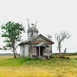 Деревянная часовня XIX века на месте древнего Белоозера. Фото 1909 года с.М. Прокудина-Горского
