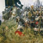 Картина А.П. Бубнова «Утро на Куликовом поле» (1943—1947). Государственная Третьяковская галерея