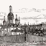 Белозерск. Вид улиц от Успенского собора. XVI век