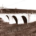 Мост через ров. Фото 1970-х гг. из паспорта памятника истории и культуры