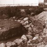 Колокольня храма Василия Великого. Западная часть. Вид с севера. Фото Е.А. Хворостовой из отчета об археологических исследованиях на территории Белозерского кремля 1993 г.