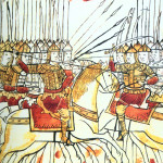 Битва на Куликовом поле. Миниатюра из Лицевого свода. XVI век